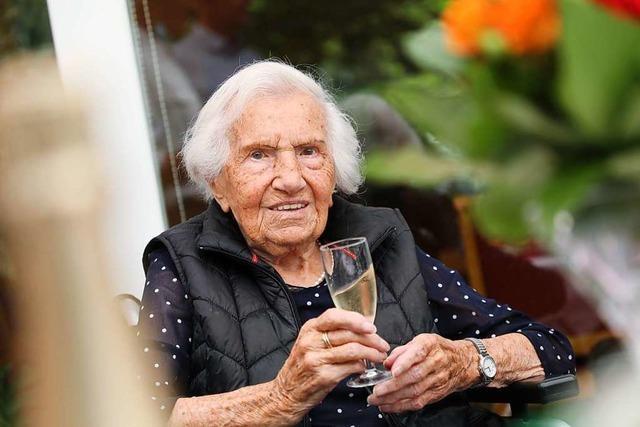 Hilde Pflüger hat in Friesenheim ihren 108. Geburtstag gefeiert