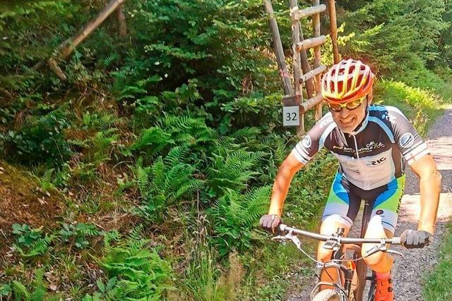 Joachim Oberföll ist mit dem Mountainbike 18 Mal aus Kuhbach zum Höhenweg gestrampelt