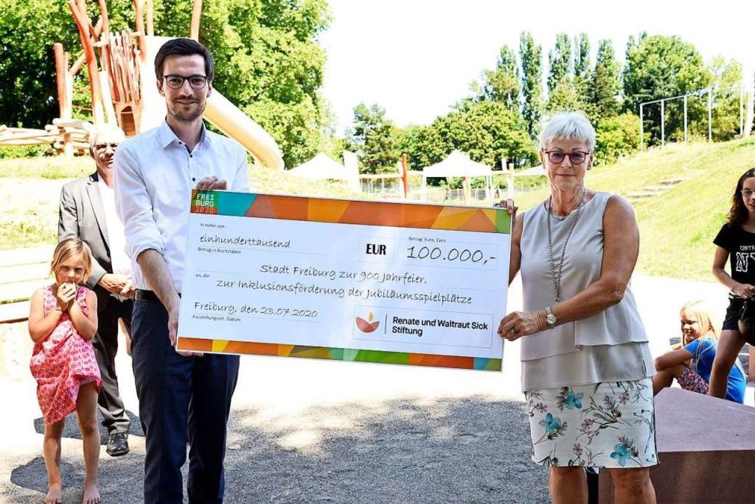 100.000 Euro von der Renate- und-Waltr...g ermöglichen auch inklusive Elemente.  | Foto: Thomas Kunz