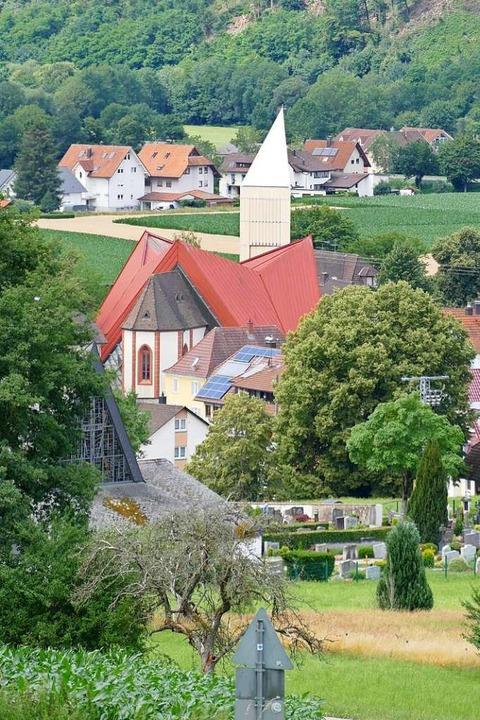 Herausragend ist aus Sicht des Naturpa...Kirchturm aus Holz in Gutach-Bleibach.  | Foto: Sylvia Sredniawa