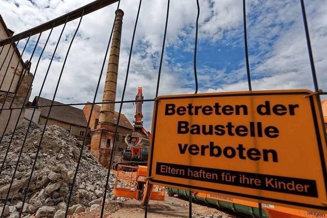 Die alte Lederfabrik in Endingen wird abgerissen