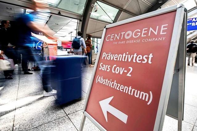 Reiserückkehrern werden kostenlose Corona-Tests angeboten