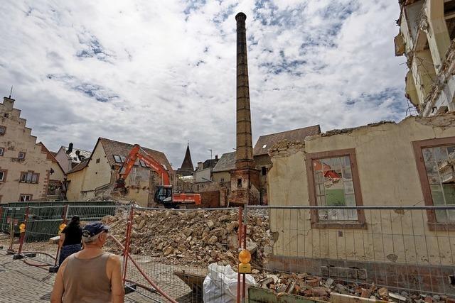 Die alte Lederfabrik verschwindet