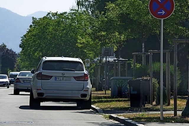 Halteverbot in Werderstraße