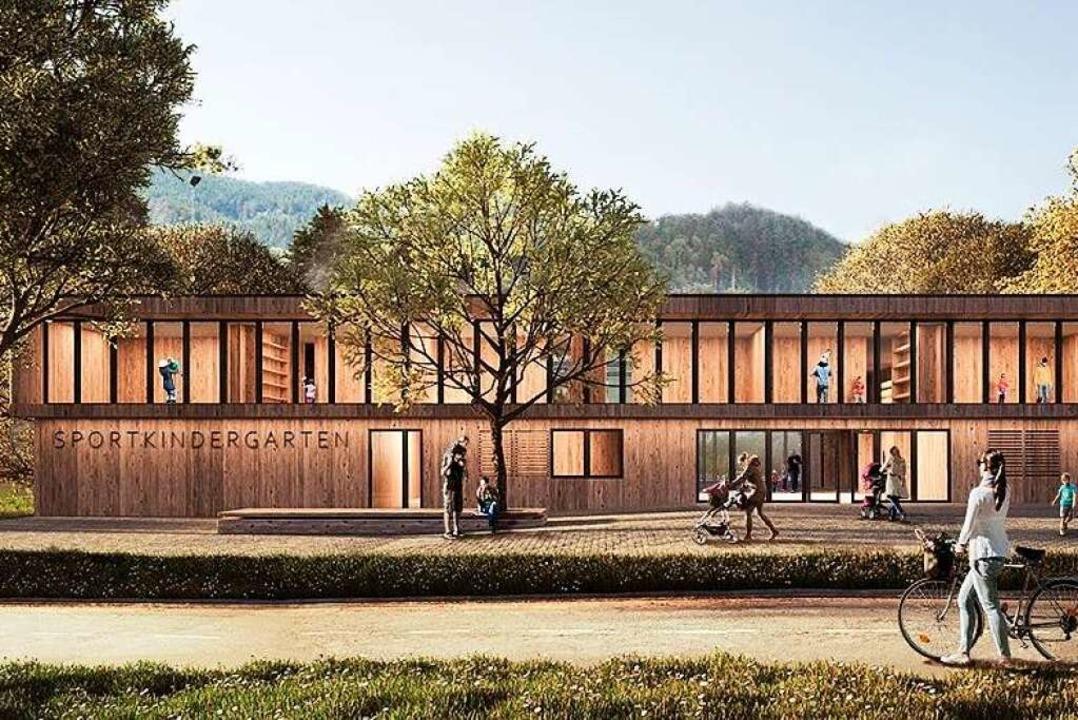 Verschwindet in der Schublade: Planung...einen Sportkindergarten in Kirchzarten  | Foto: Architektur 109, Stuttgart