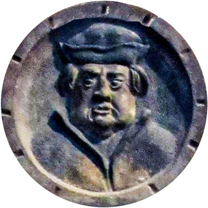 Ulrich Zasius ist hier auf einer Gedenktafel im Münsterabgebildet.  | Foto: bz