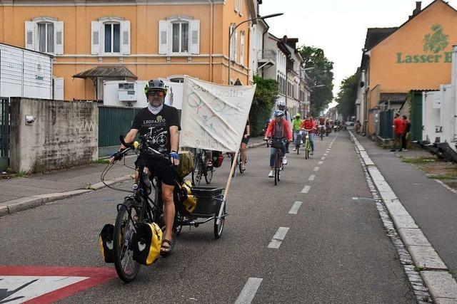 Velos haben freie Fahrt bei der Fahrraddemonstration in Lörrach