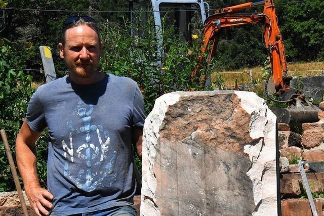 Tilo Tscheulin aus Steinen ist der Retter der heimischen Steine