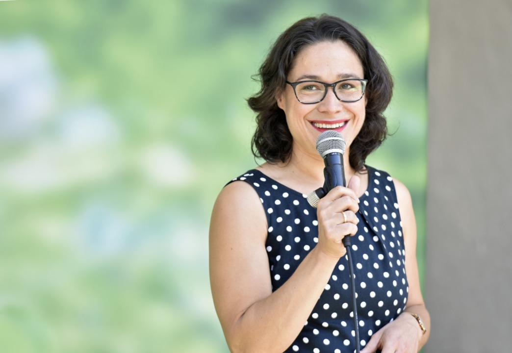 Grünen-Kandidatin für den Wahlkreis Freiburg II: Nadyne Saint-Cast  | Foto: Michael Bamberger