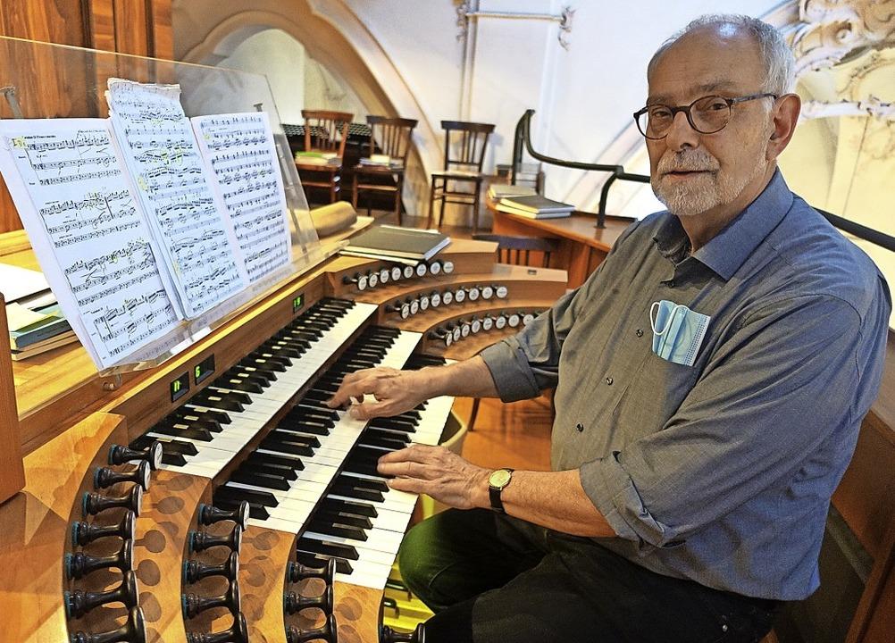 Der renommierte Hamburger Organist Chr... mit fantastischen Variationenwerken.     Foto: Roswitha Frey