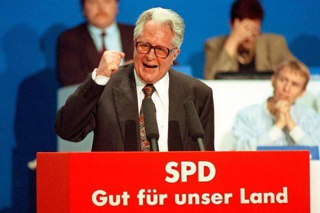 Hans-Jochen Vogel war Ratgeber, Ausputzer – und eine SPD-Instanz