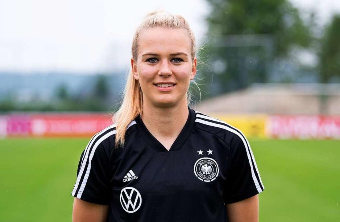 Nationaltorhüterin Merle Frohms spielt...kfurt – ein echter Transfercoup.  | Foto: Sven Hoppe (dpa)