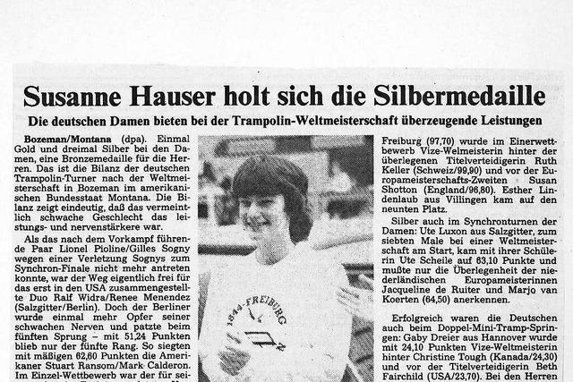 Wie Trampolinturnerin Susanne Schöffler nach einem Motorradunfall in die Weltspitze zurückkehrte