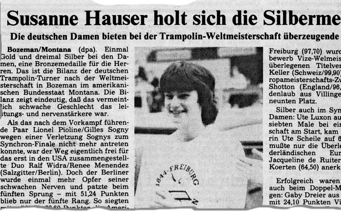 Der Ausschnitt eines Agentur-Artikels ...chöffler, die damals noch Hauser hieß.  | Foto: BZ