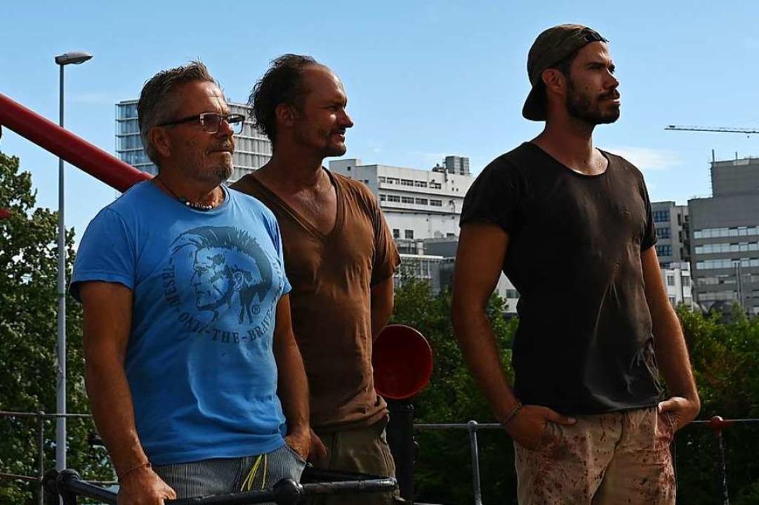 Sind Teil des harten Kerns: Andreas Wyss, Tom Brunner und Roy Bula  (von links).    Foto: Jonas Hirt