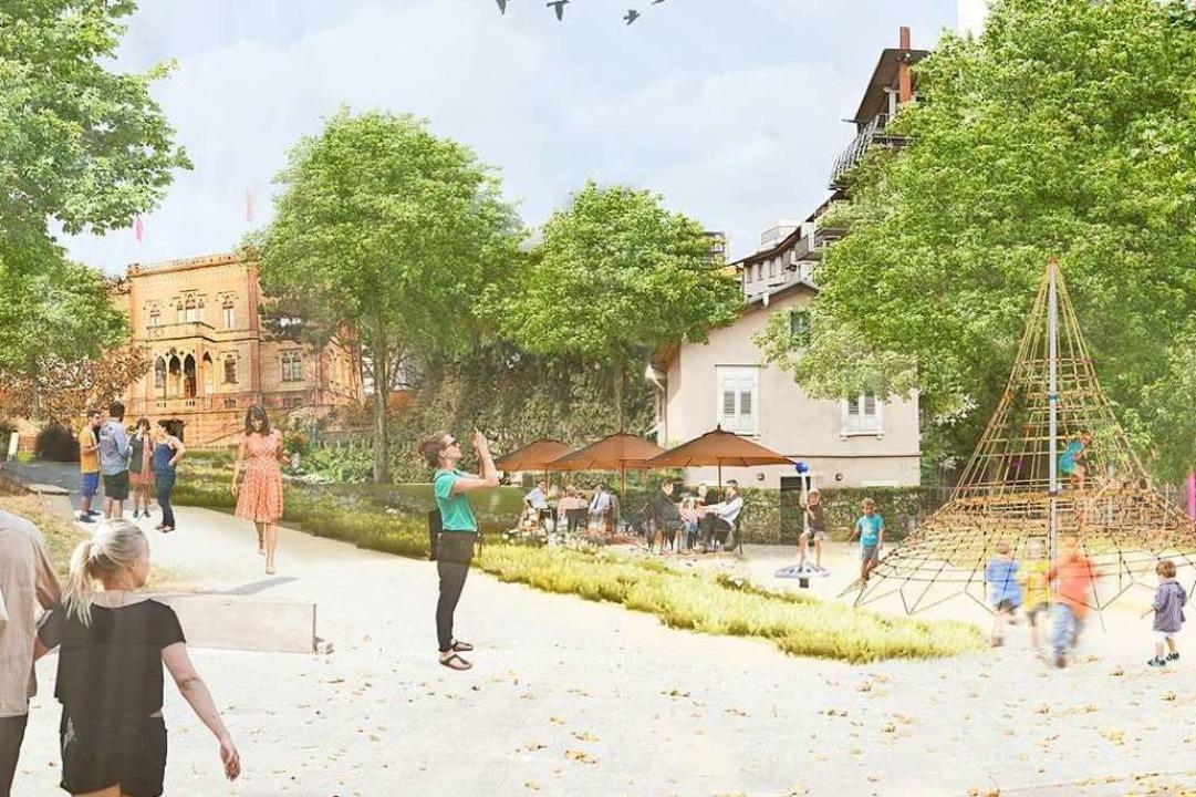 So sollte die Nordostecke des Parks nach der Neugestaltung aussehen.  | Foto: Stadt Freiburg