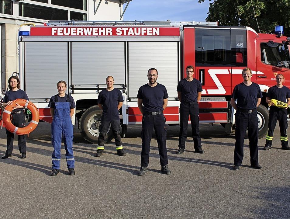 Aus- und Weiterbildungen beendet (von ...n Schönlein von der Feuerwehr Staufen   | Foto: Feuerwehr Staufen