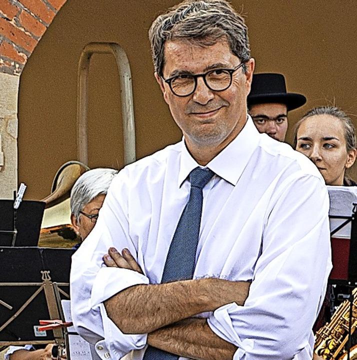 Zufrieden: Dirigent Pascal Arets  | Foto: Hubert Gemmert