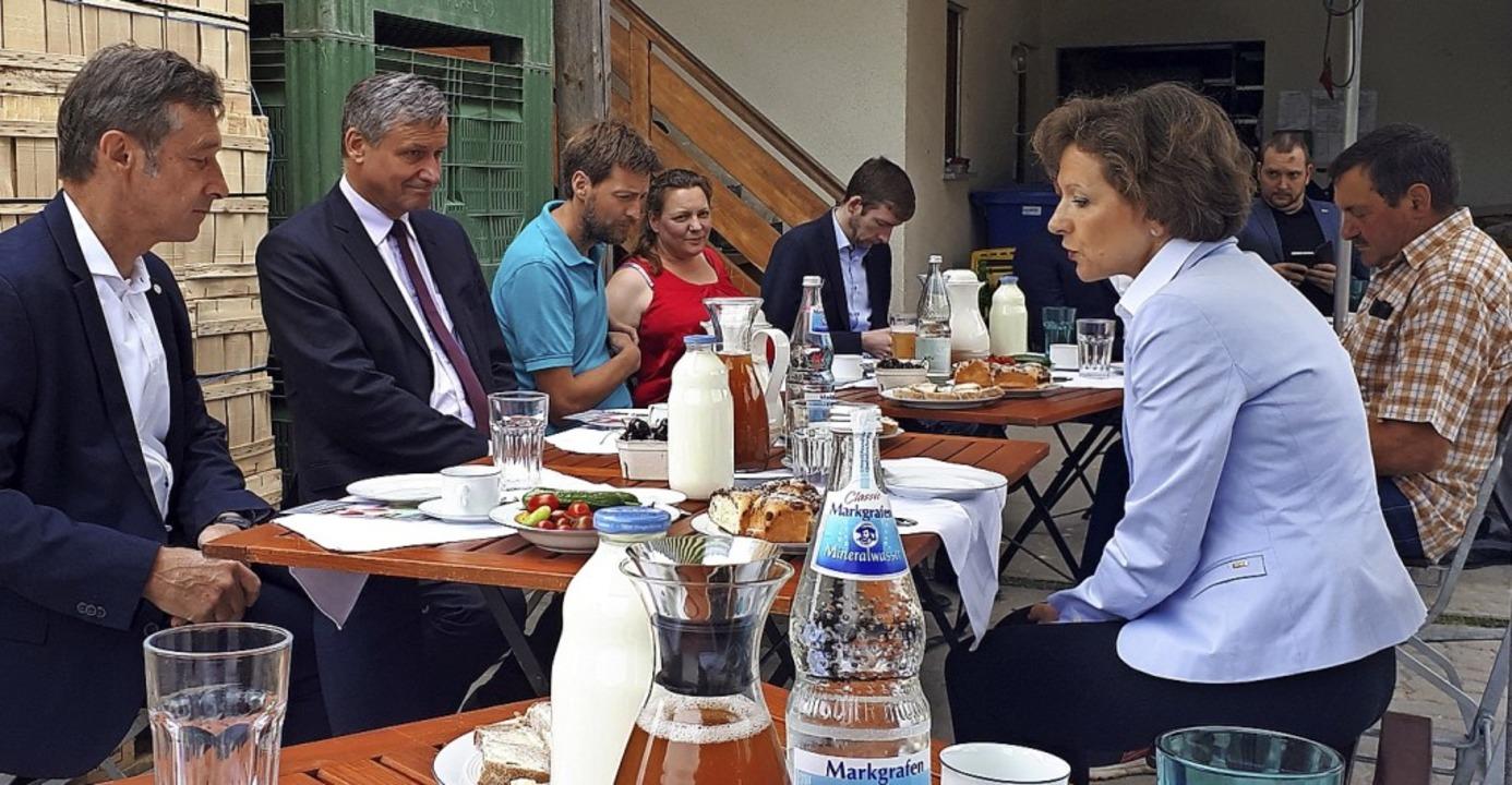 Politiker hörten  auf dem Weingartenhof, wo Landwirte der Schuh drückt.  | Foto: privat