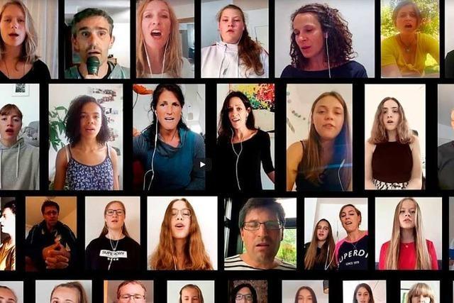 Musiklehrer aus Kirchzarten bastelt aus 30 Stimmen ein Musikvideo
