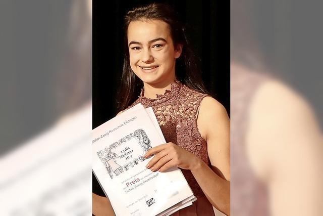 Lydia Mießmer sorgt mit Notenschnitt 1,0 für Schulpremiere