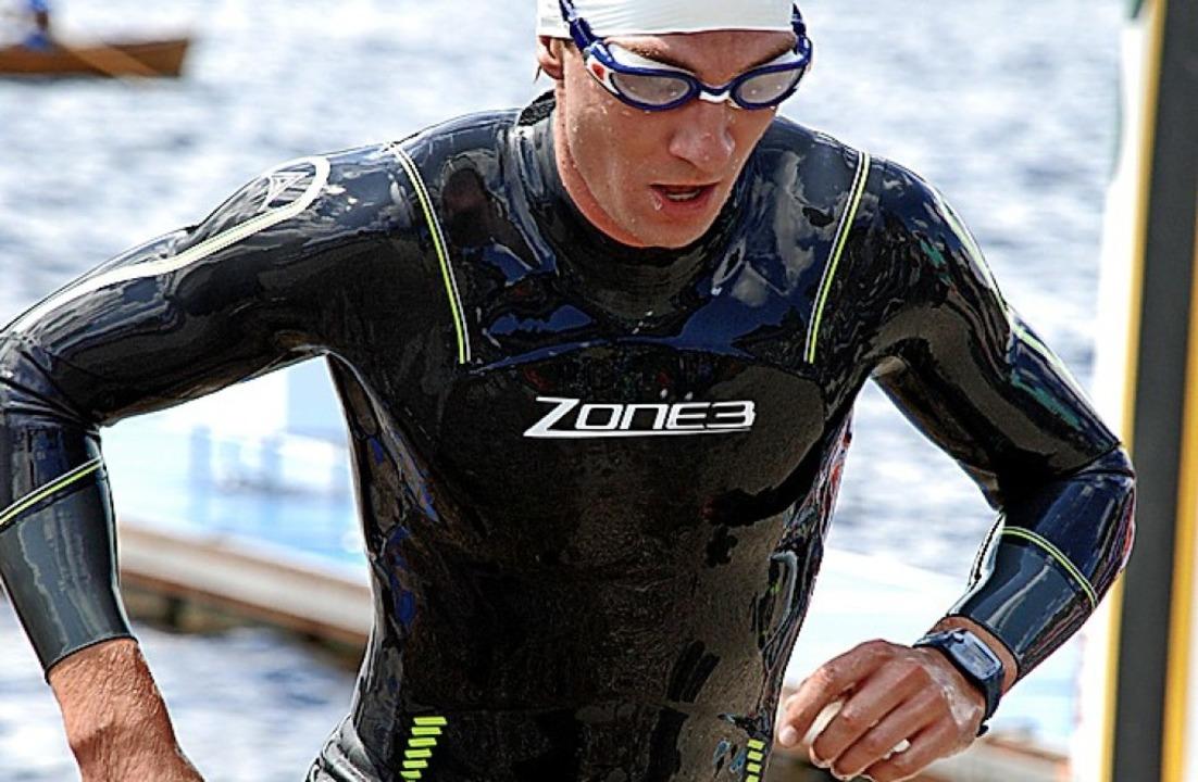 Allein mit sich und der Herausforderun...nmal sechs Triathleten am Schluchsee.   | Foto: Ruoff