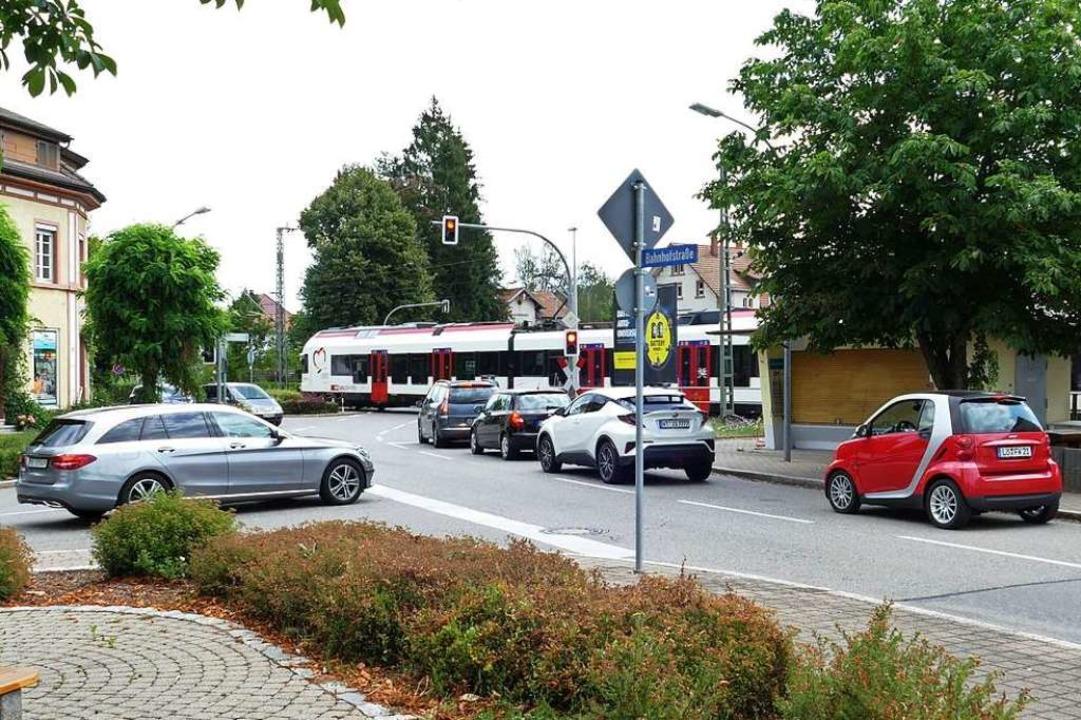 Rund um den Steinener Bahnhof ist schon heute die Verkehrsdichte hoch.  | Foto: Martina David-Wenk