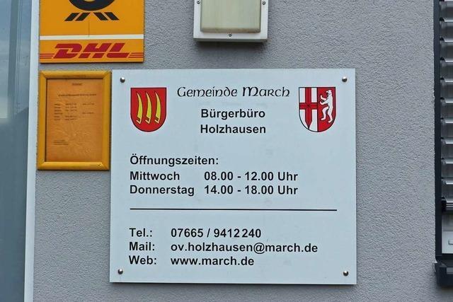 Marchs Gemeinderat will Holzhauser Bürgerbüro wieder öffnen