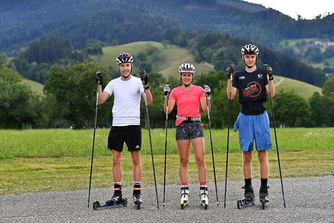 Im Sommer vor der Haustür Kilometer sc...ss und Matteo Lewe vom SV Kirchzarten.  | Foto: Achim Keller