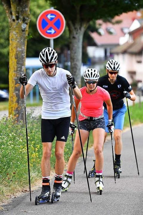 Kein Halten mehr: Laufen lassen auf asphaltierten Wegen und Sträßchen  | Foto: Achim Keller
