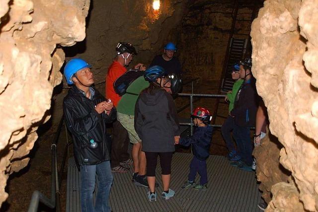 In der Tschamberhöhle in Karsau sind wieder Führungen möglich