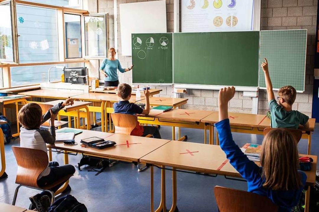 Präsenzunterricht in Baden-Württemberg    Foto: Philipp von Ditfurth (dpa)