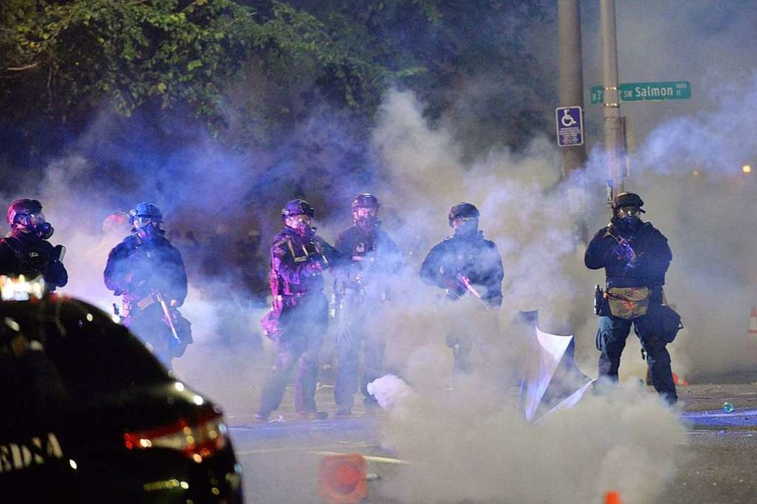 Der Einsatz der Bundespolizisten ist umstritten.  | Foto: ANKUR DHOLAKIA (AFP)