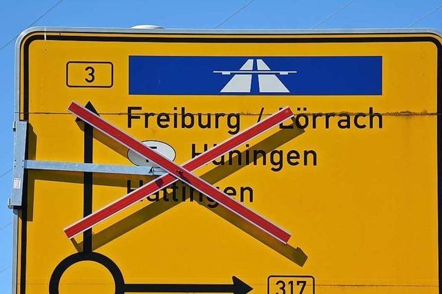 Halbseitige Sperrung der B 3 in Weil am Rhein soll verlängert werden