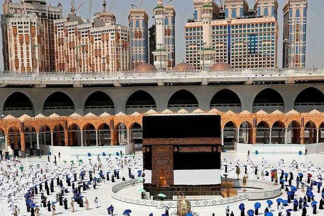 Fotos: Muslimische Wallfahrt Hadsch beginnt unter strengen Corona-Auflagen