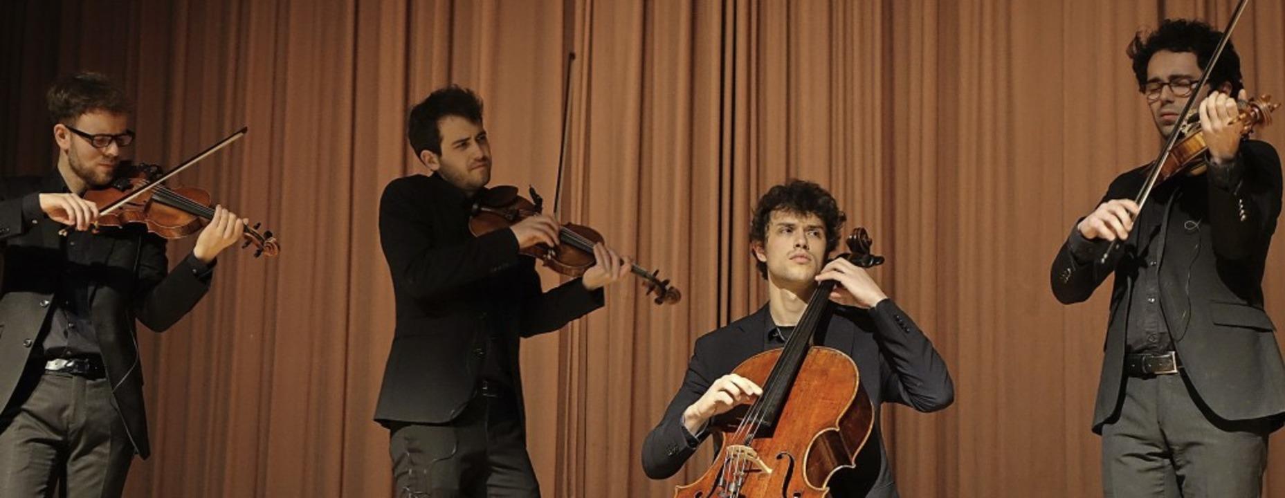 Das gefragte Vision String Quartet aus...-Abenden in den Kursaal Bad Säckingen.  | Foto: Roswitha Frey