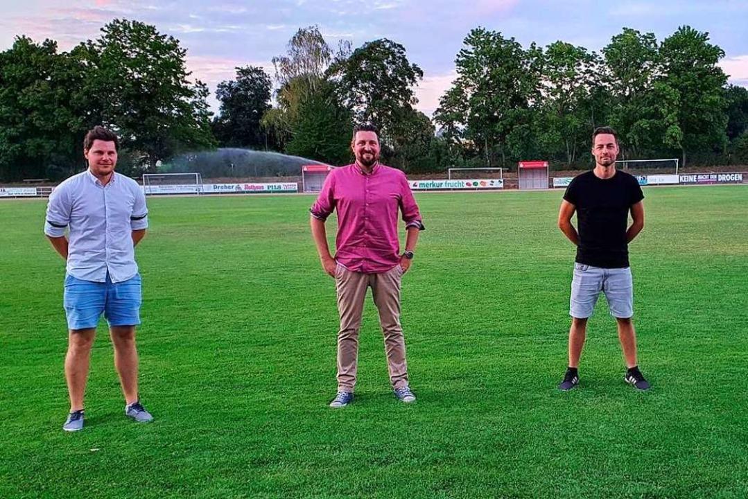 Das neue Vorstandsquartett des VfR Umk...Vorstand Jugendfußball Dennis Meier...  | Foto: Julius Wilhelm Steckmeister