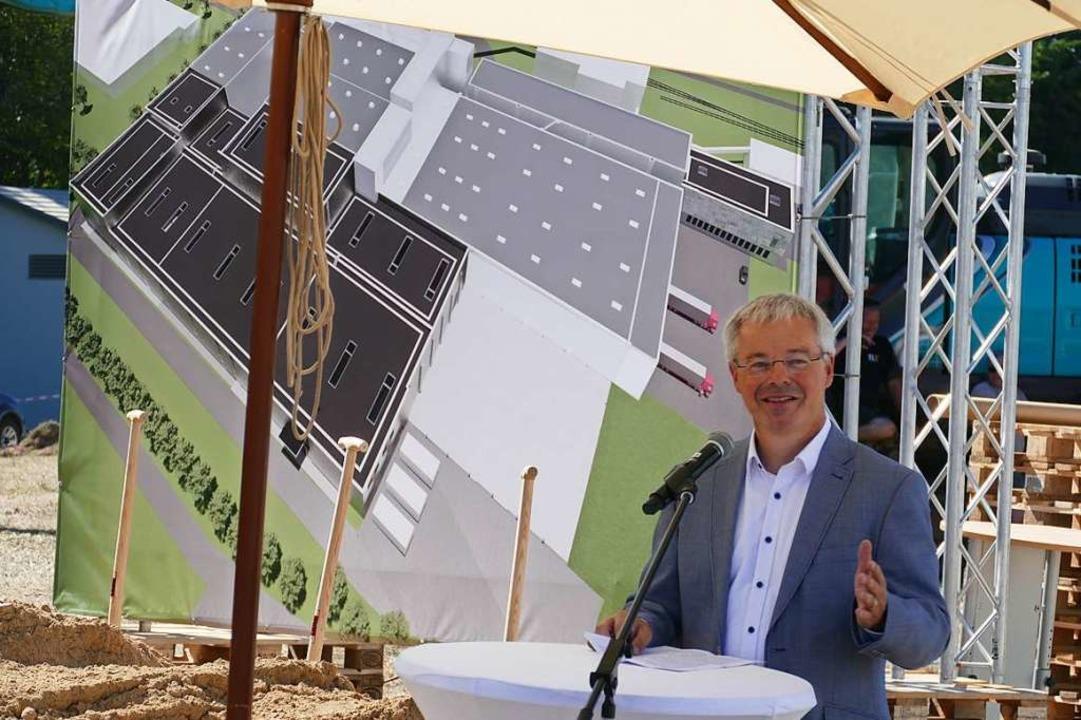 Heiko Engelhardt, Geschäftsführer von ...ftigen Druckzentrums beim Güterbahnhof  | Foto: Helmut Seller