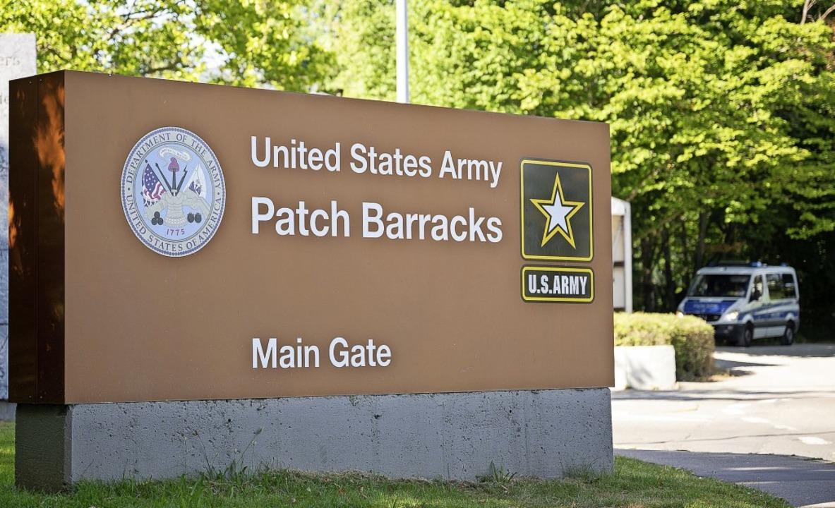 """In der US-Kaserne """"Patch Barrack...uartier der US-Streitkräfte in Europa.    Foto: Sebastian Gollnow (dpa)"""