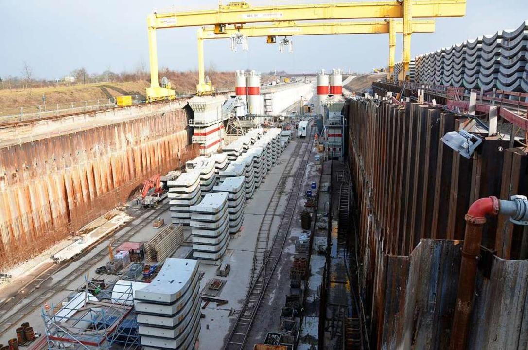 Zum Vergleich: So ähnlich wie hier bei...ab 2026 die Tunnelbaustelle aussehen.   | Foto: Ralf Burgmaier