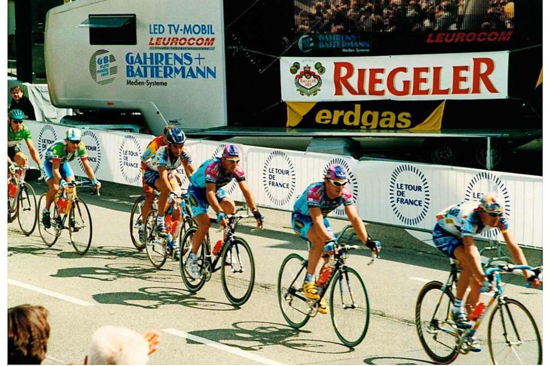Die Etappe der Tour de France durch Rh...en war ein Großereignis für die Stadt.  | Foto: Wilfried Markus