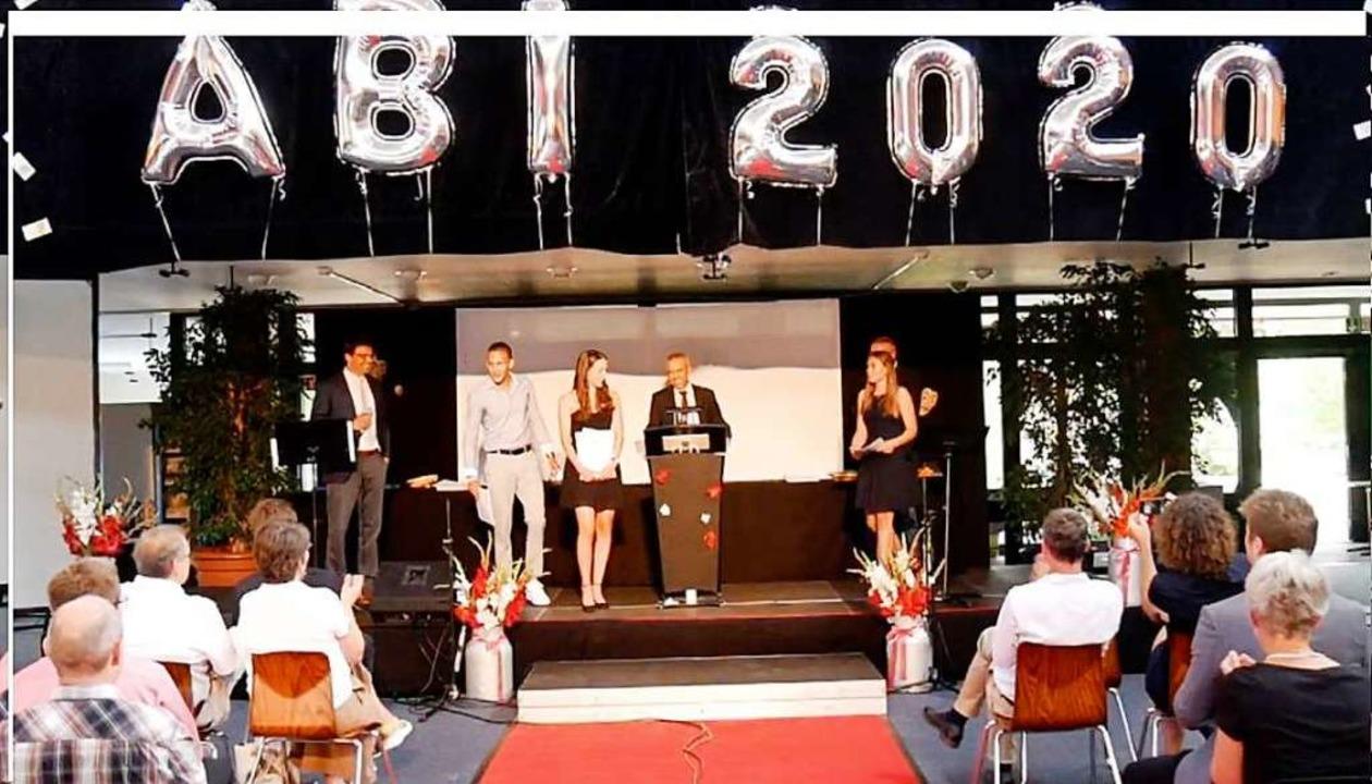 Feierliche Verabschiedung der Abiturienten im Marie-Curie-Gymnasium Kirchzarten.    Foto: Privat
