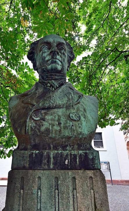 Das umstrittene Denkmal für Alban Stolz in Freiburg  | Foto: Michael Bamberger