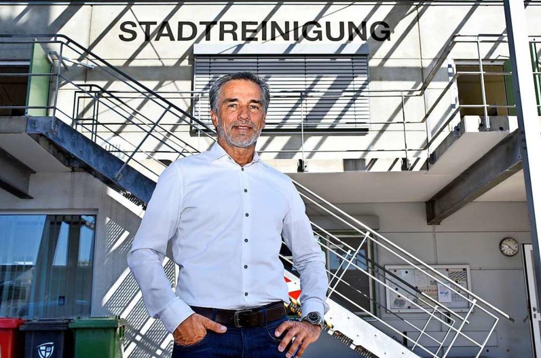 Michael Broglin, Leiter der Abfallwirtschaft und Stadtreinigung Freiburg   | Foto: Thomas Kunz