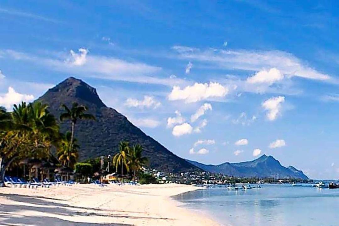 Der Strand vor der Insel Mauritius &#8...zeug schnell erreichbares Urlaubsziel.  | Foto: WTT