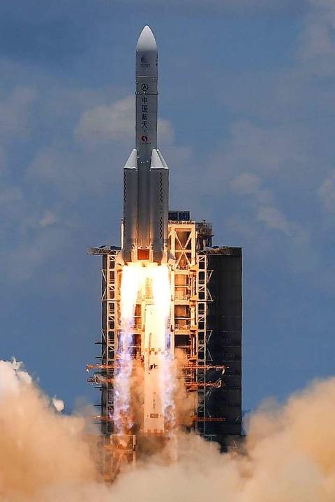 Rakete der chinesischen Mission  | Foto: NOEL CELIS (AFP)