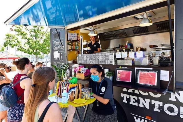 Hitze bremst Street-Food-Market auf dem Freiburger Messegelände aus