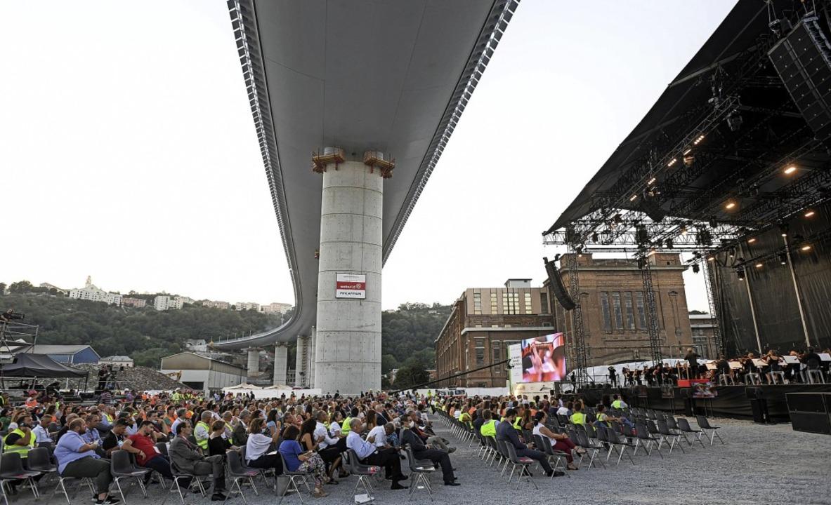 Einweihungsfeier in Genua: Die italienische Brücke