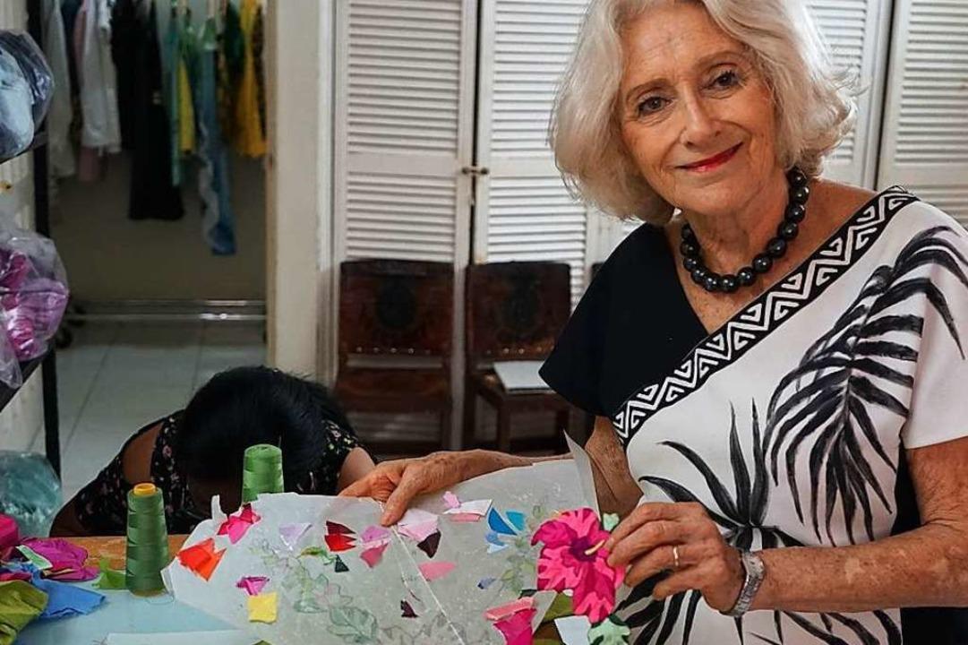 Versteht sich als Botschafterin der pa...lklore: die Französin  Helene Breebart  | Foto: Sandra Weiss