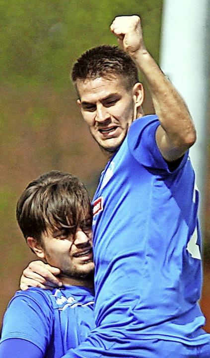 Zugang Sime Fantov hat beim Neustädter 4:0-Sieg mit zwei Treffern überzeugt.   | Foto: Dieter Reinhardt